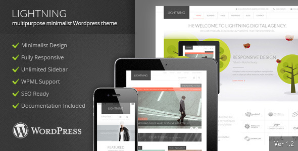 Lightning - Multipurpose Minimalist Theme - Corporate WordPress