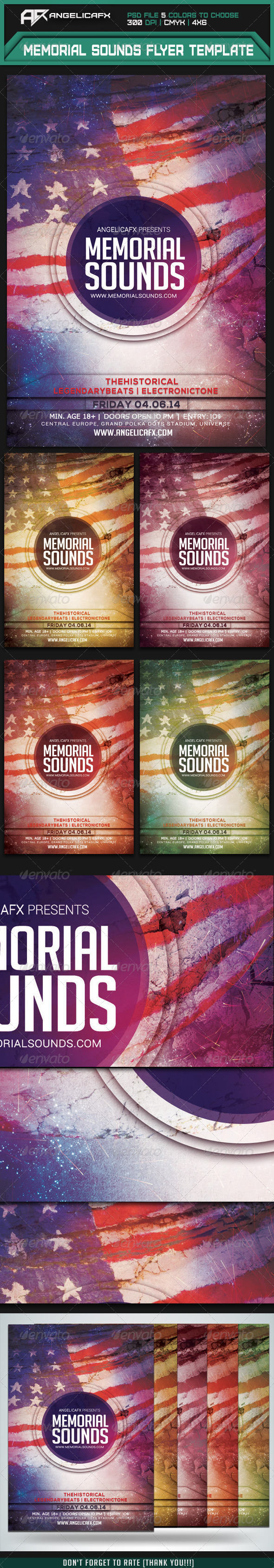 GraphicRiver Memorial Sounds Flyer Template 7844651