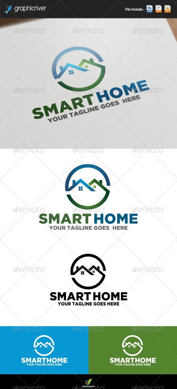 GraphicRiver Smart Home Logo 7844652