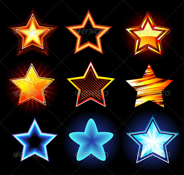GraphicRiver Set of Glowing Stars 7844657