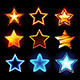 Set of Glowing Stars - GraphicRiver Item for Sale