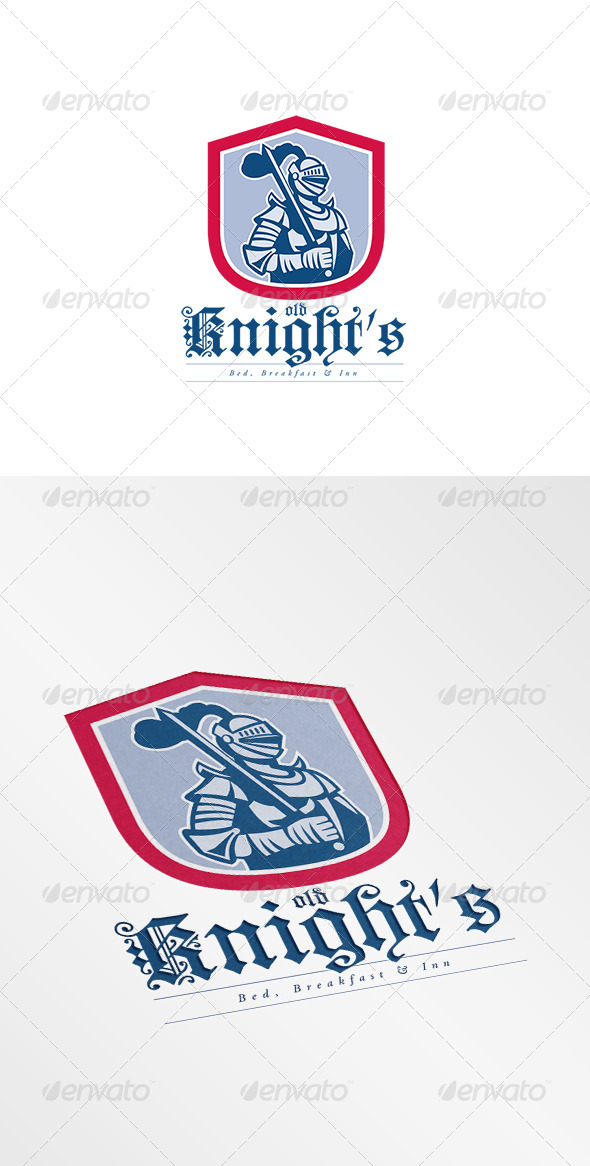 GraphicRiver Old Knights Bed and Breakfast Inn Logo 7844781