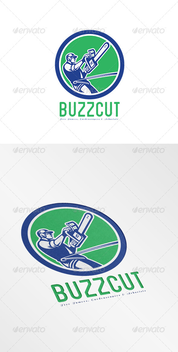 GraphicRiver BuzzCut Gardenscapers Arborists Logo 7844799
