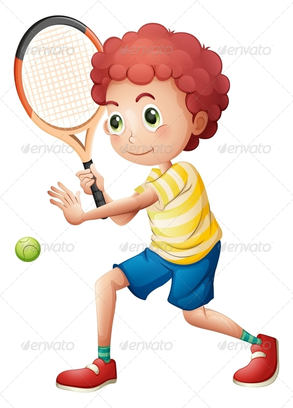 GraphicRiver A young tennis player 7844839