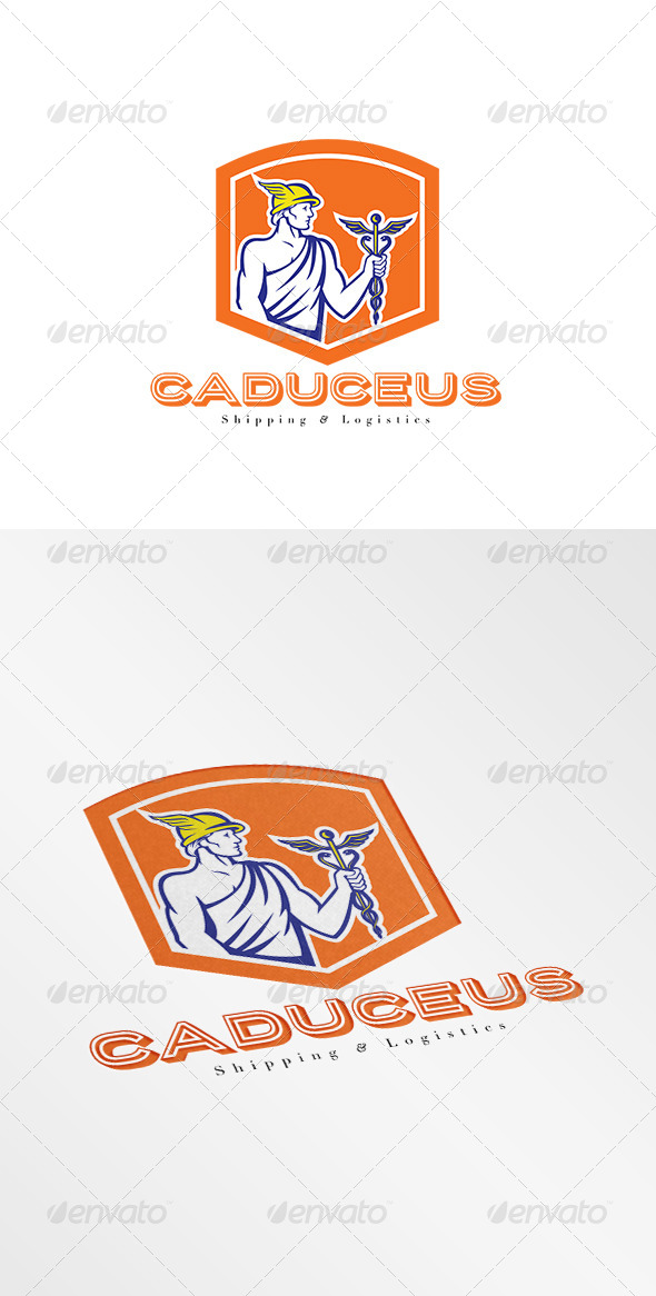 GraphicRiver Caduceus Shipping and Logistics Logo 7844841
