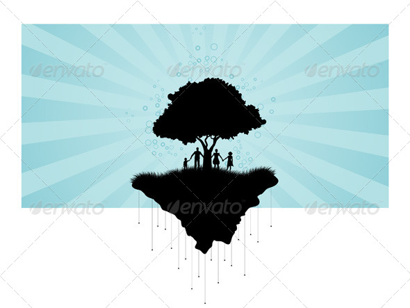 GraphicRiver Tree Silhouette 7844844