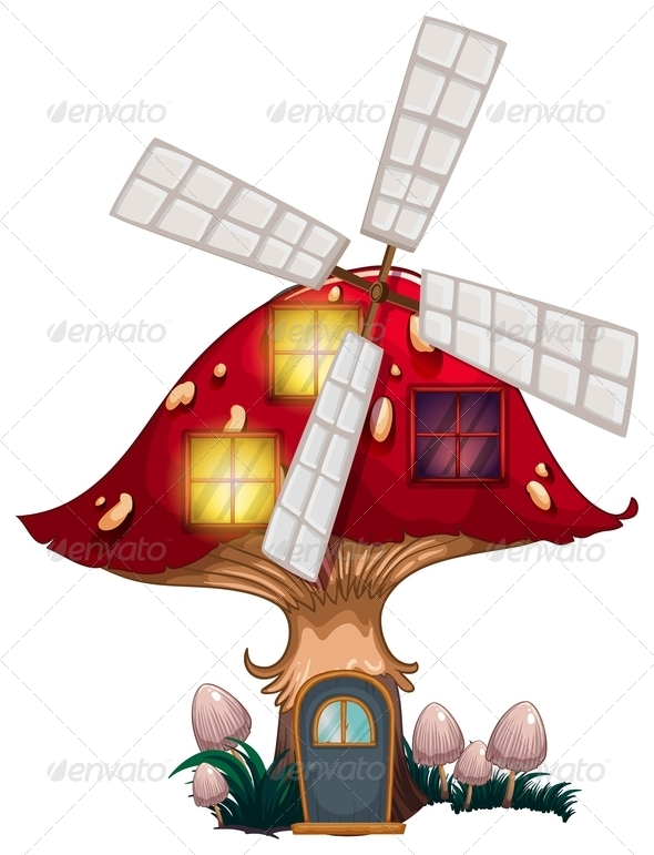GraphicRiver Mushroom House with Windmill 7844845