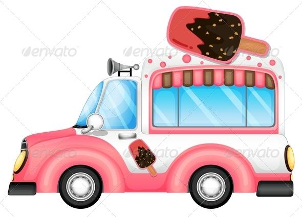 GraphicRiver Icecream Car 7844889