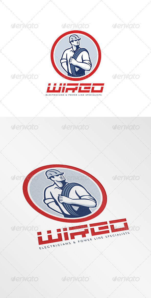 GraphicRiver Wired Electricians Logo 7844891