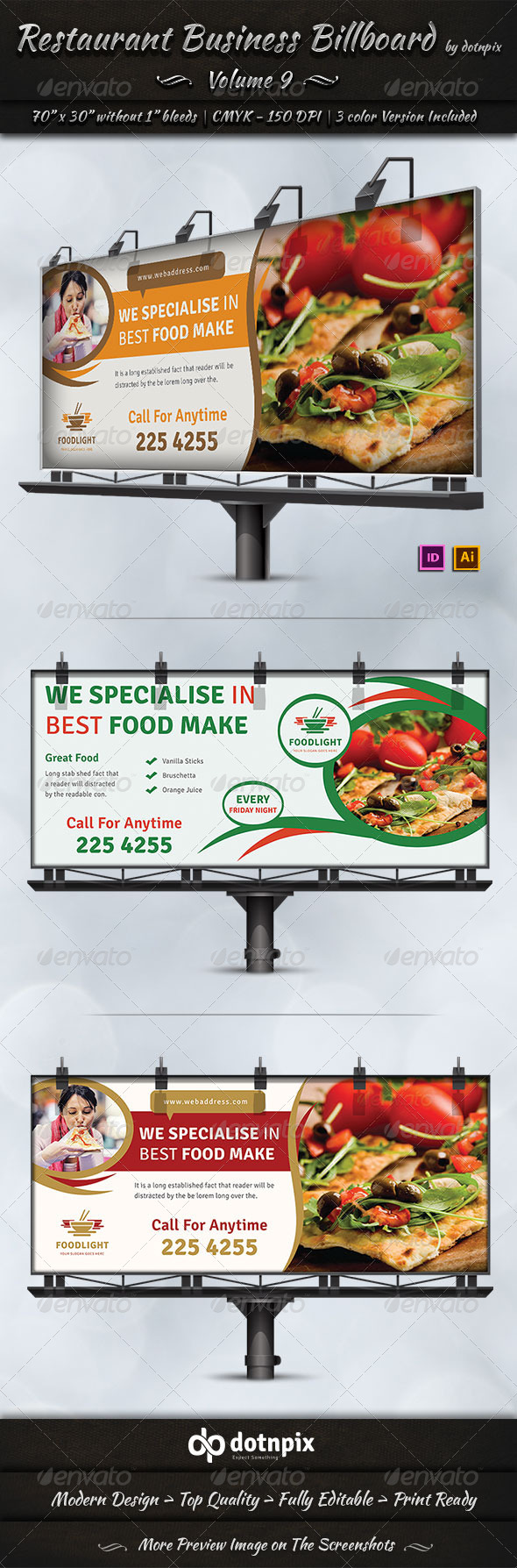 GraphicRiver Restaurant Business Billboard Volume 9 7844892
