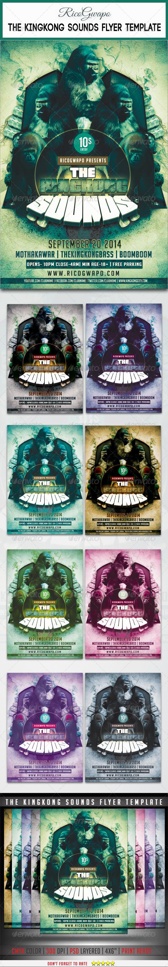 GraphicRiver KingKong Sounds Flyer Template 7844909