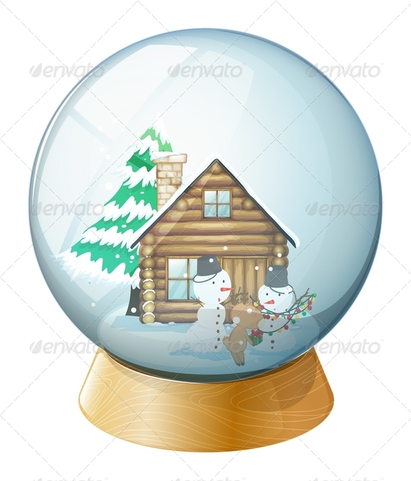 GraphicRiver Snowmen Inside Globe 7845088
