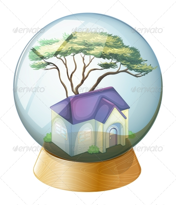GraphicRiver A crystal ball with a house 7845251
