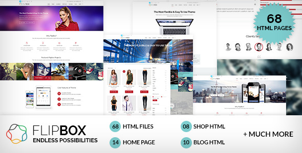 FlipBox - Multipages HTML5/CSS3 Template