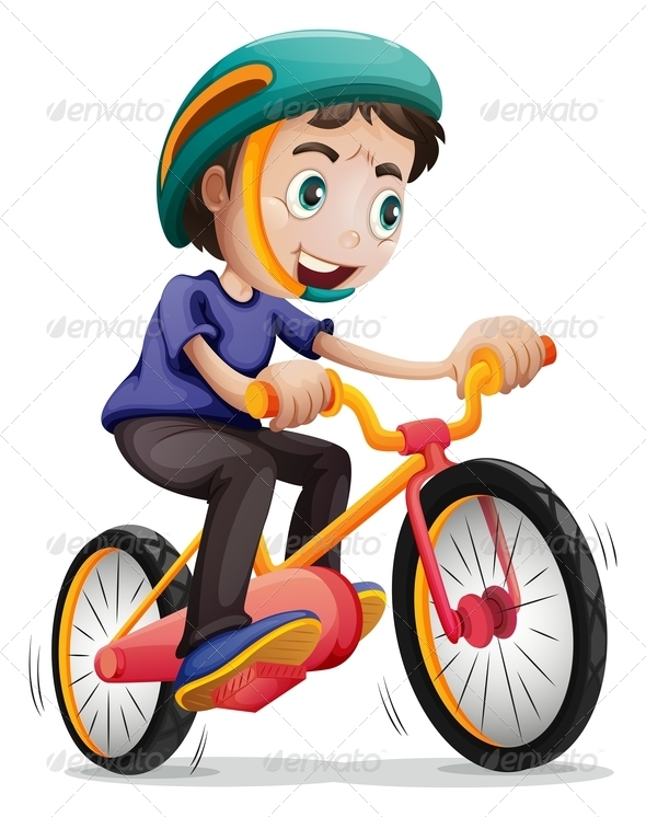 GraphicRiver Boy Riding a Bicycle 7845255