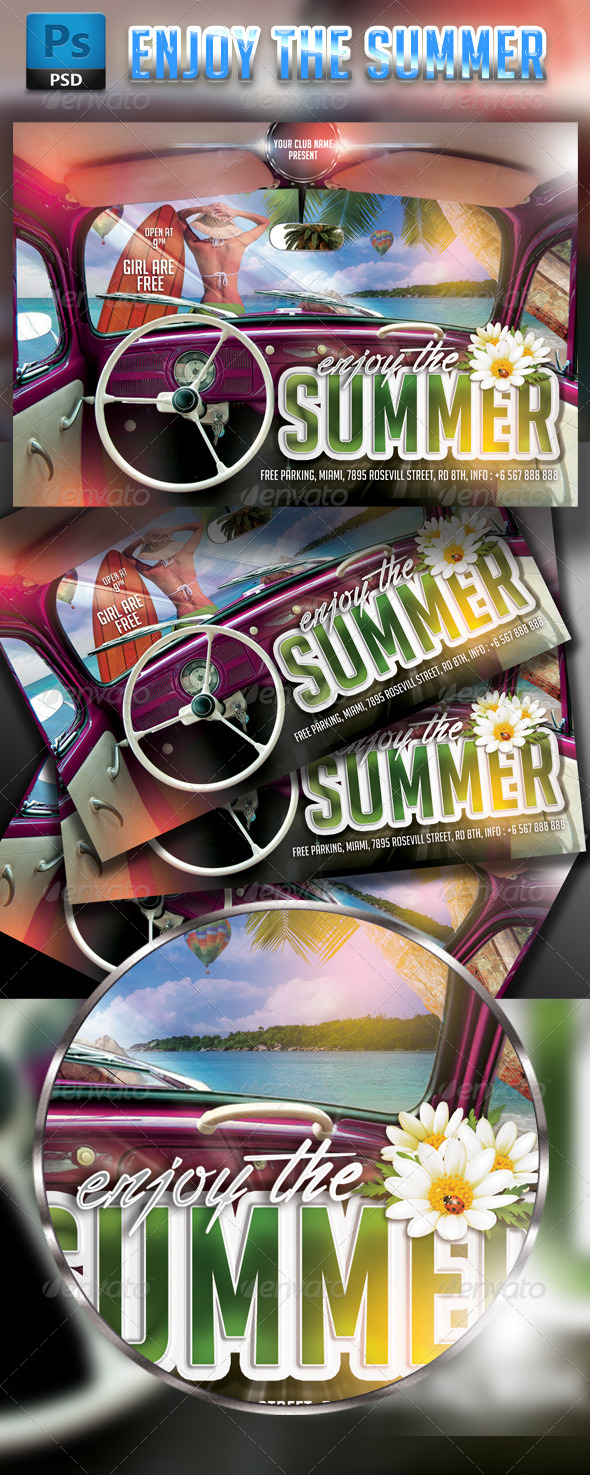 GraphicRiver Enjoy the Summer Party Flyer Template 7845283