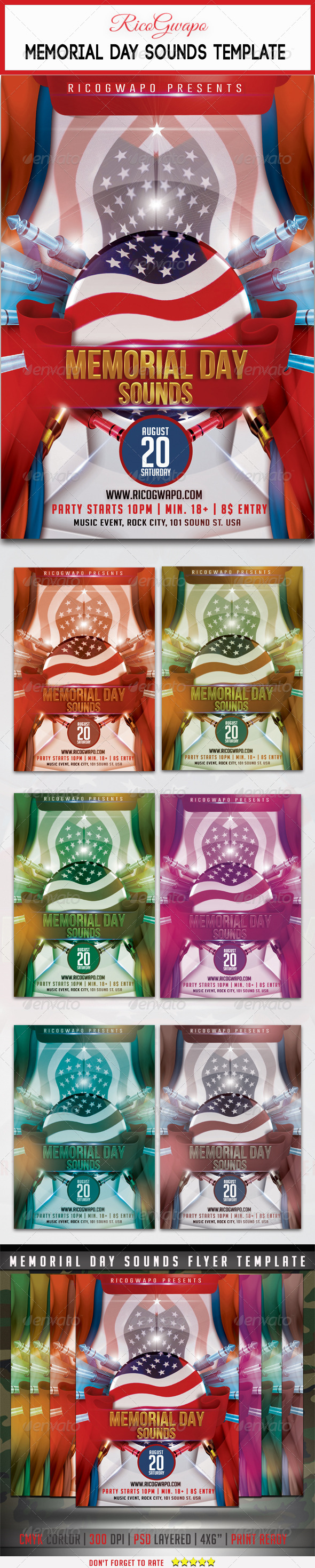 GraphicRiver Memorial Day Flyer Template 7845299