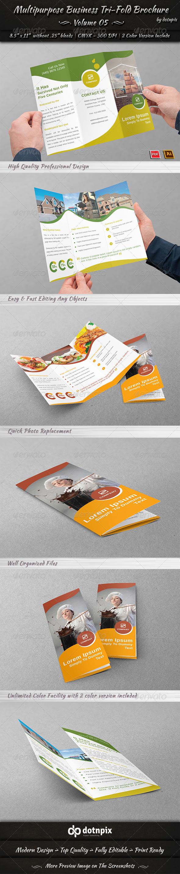 GraphicRiver Multipurpose Business Tri-Fold Brochure Volume 5 7845305
