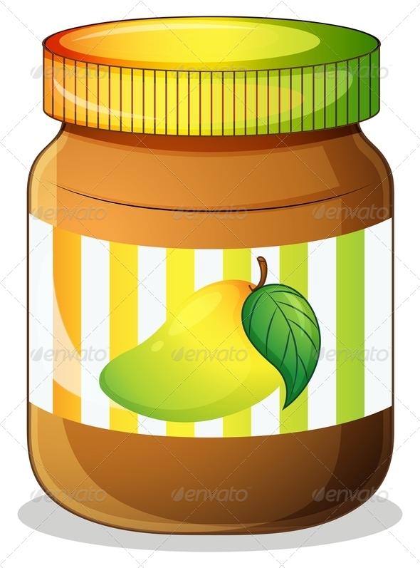 GraphicRiver Mango Jam in Jar 7845311