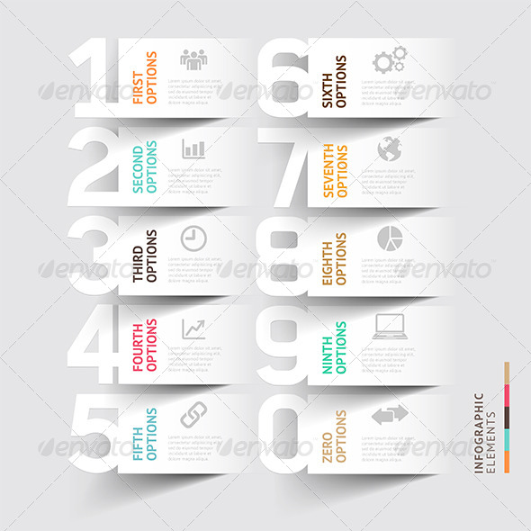 GraphicRiver Abstract Infographic Number Options Template 7591815