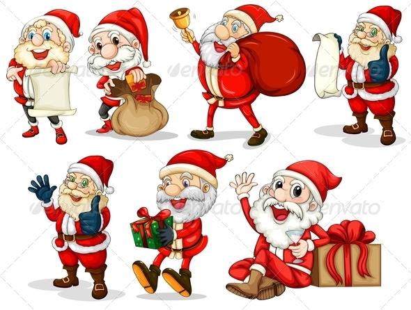 GraphicRiver Happy Santas 7845371