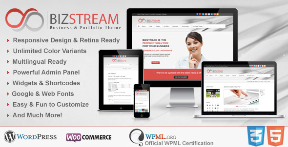 Bizstream - Multi Purpose HTML5/CSS3 WP Theme - Corporate WordPress