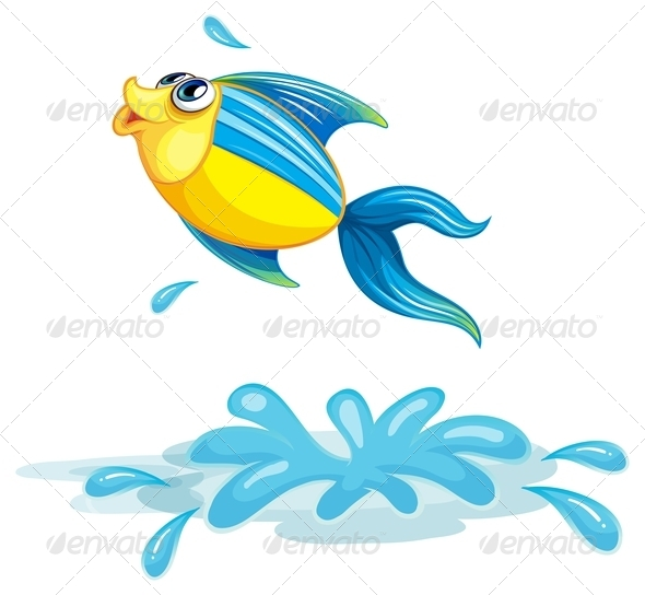GraphicRiver Fish Jumping out the Water 7845386