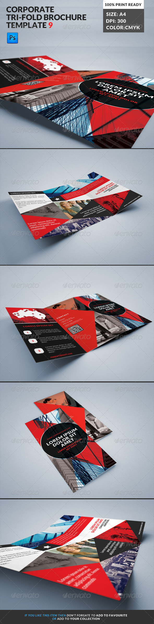 GraphicRiver Corporate Tri-Fold Brochures Template 9 7845413