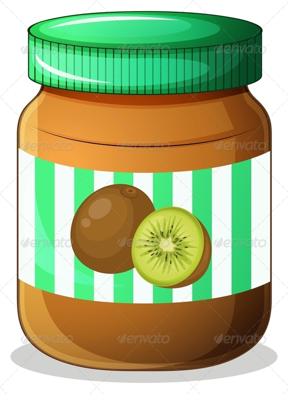 GraphicRiver Kiwi Jam Jar 7845467