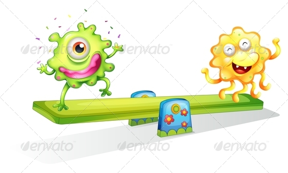GraphicRiver Two Monsters Playing 7845520