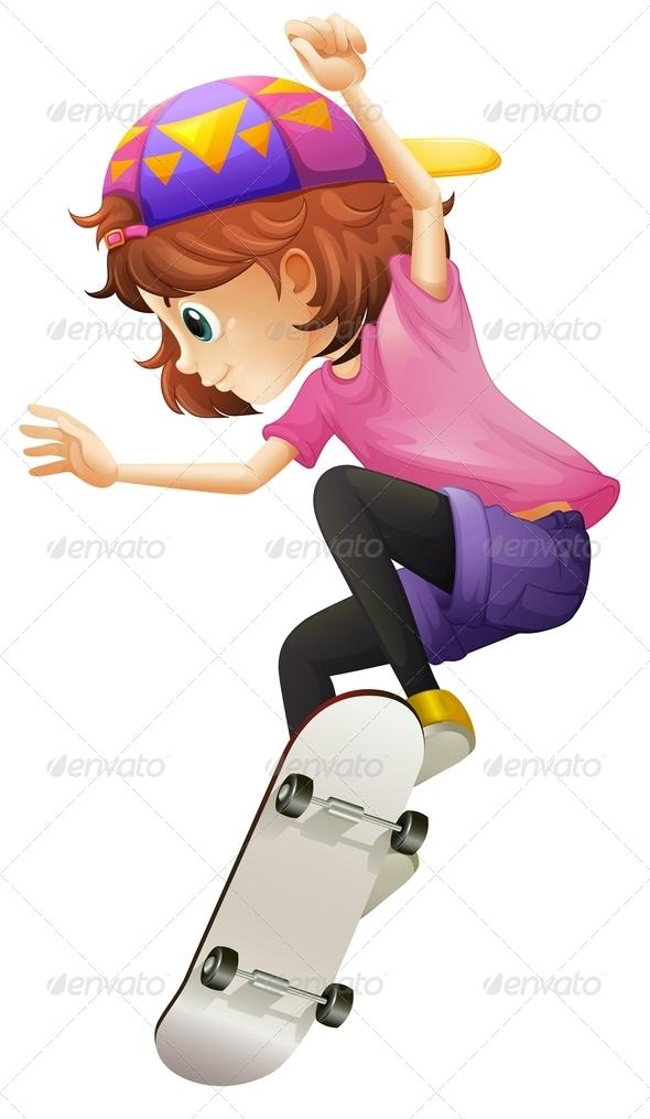 GraphicRiver Skating Girl 7845543