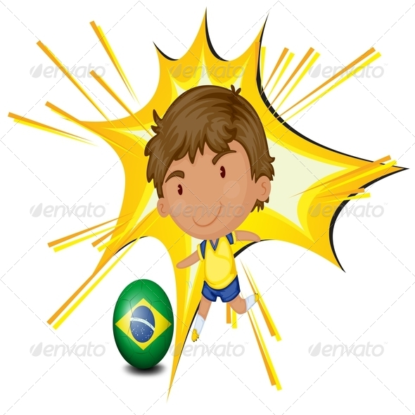 GraphicRiver Football player from Brazil 7845573