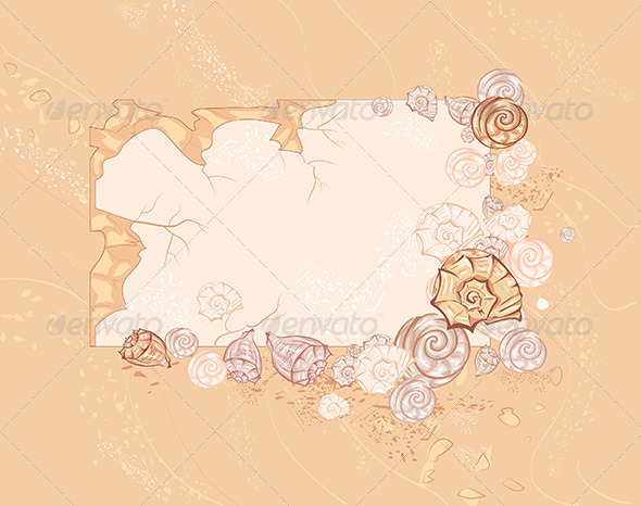 GraphicRiver Banner with Seashells 7845610