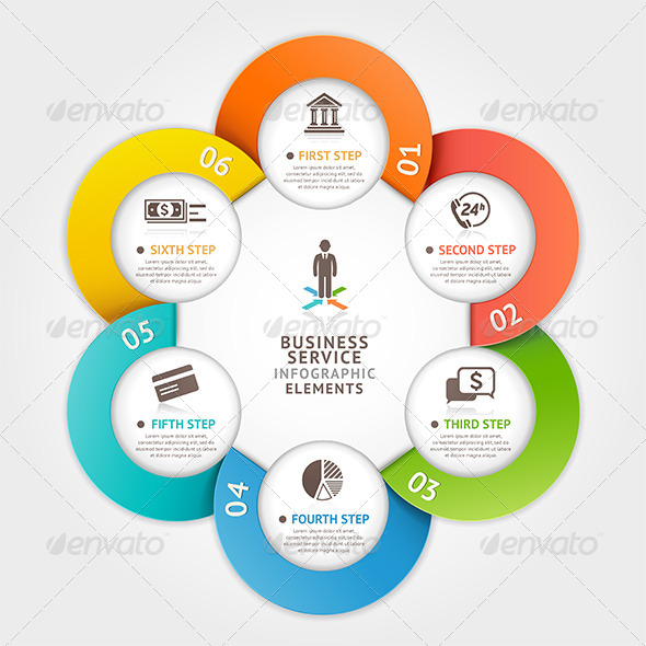 GraphicRiver Modern Business Circle Infographic Template 7845767