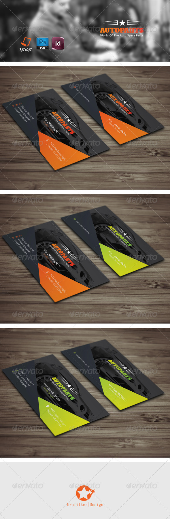 GraphicRiver Auto Services Business Card Templates 7845792