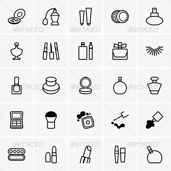 GraphicRiver Cosmetics Icons 7845829