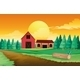 Farm houses with pine trees - GraphicRiver Item for Sale