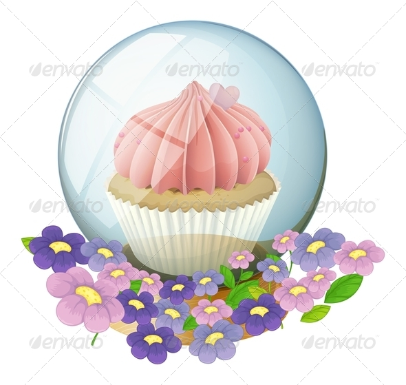 GraphicRiver Crystal ball with cupcake inside 7845863