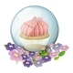 Crystal ball with cupcake inside - GraphicRiver Item for Sale