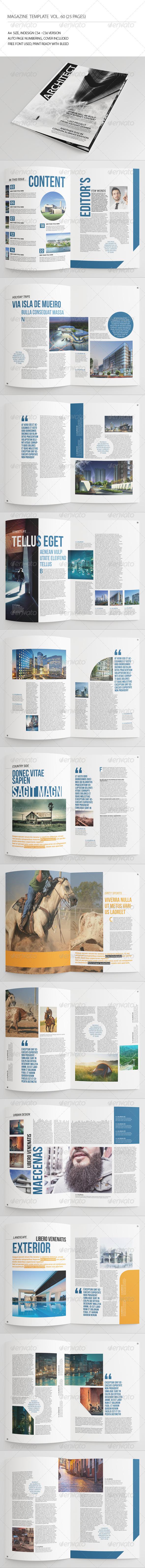 GraphicRiver 25 Pages Architecture Magazine Vol60 7845872