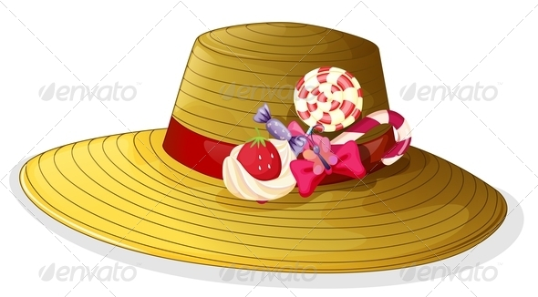 GraphicRiver Fashionable hat with candies 7846001