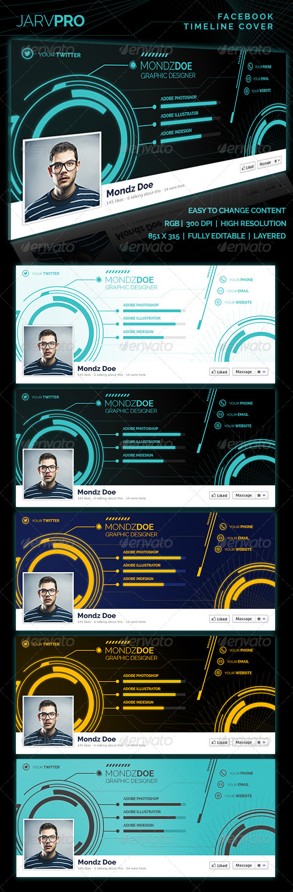 GraphicRiver Jarvpro Facebook Timeline Covers 7846019