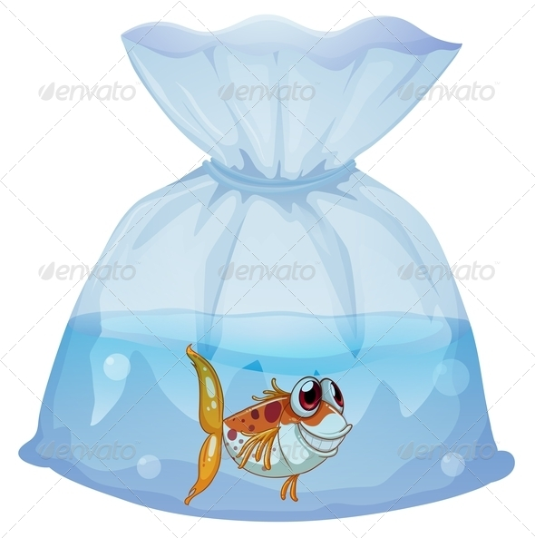 GraphicRiver Fish inside plastic bag 7846039