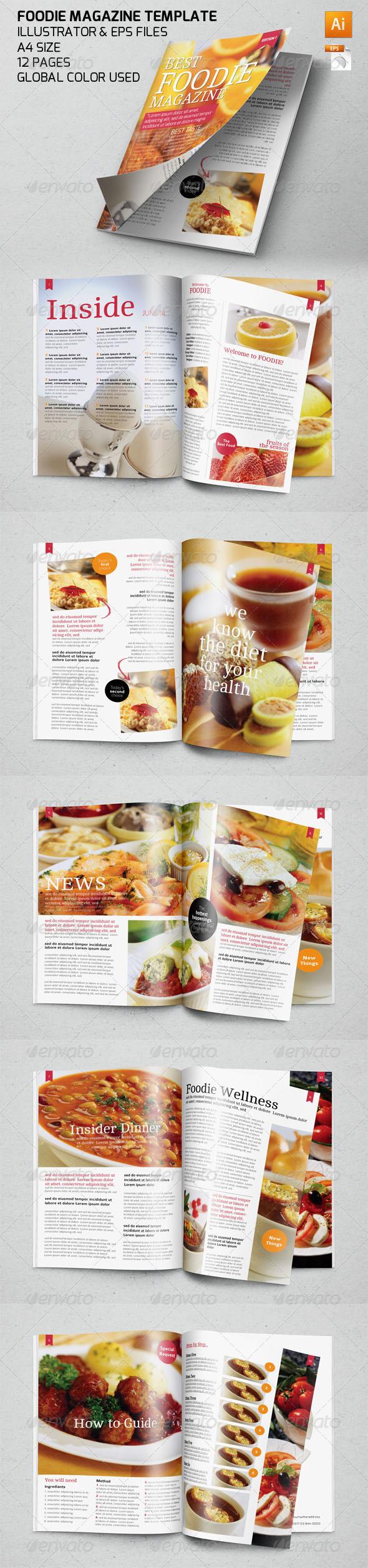 GraphicRiver Food Magazine Template 7826090