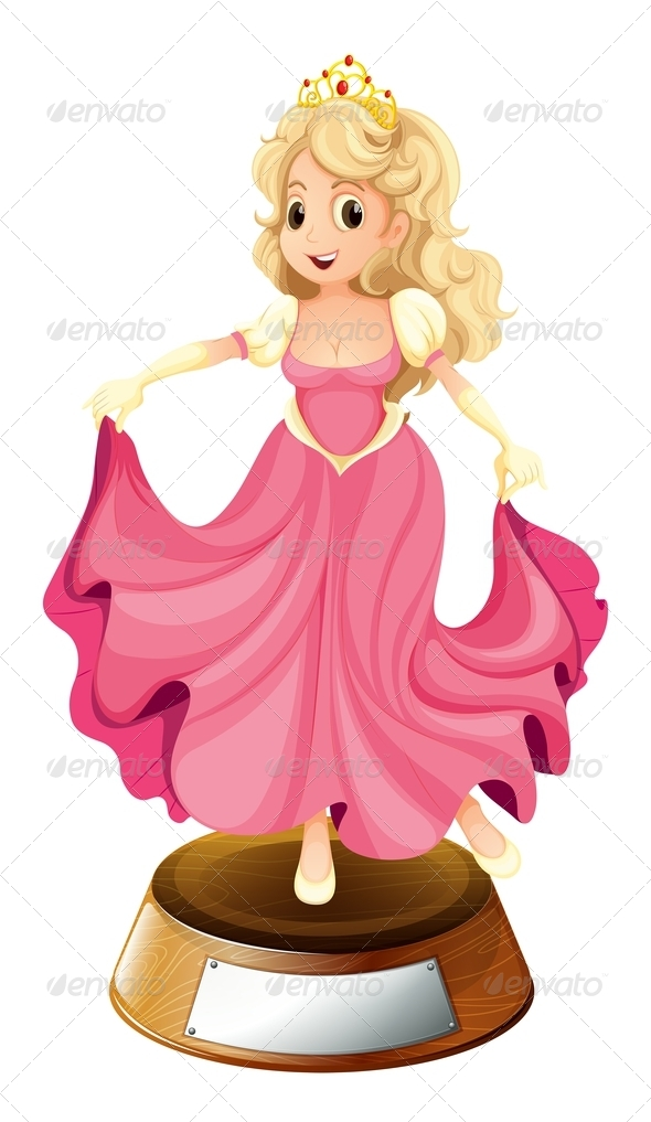 GraphicRiver A princess with a pink gown 7846540