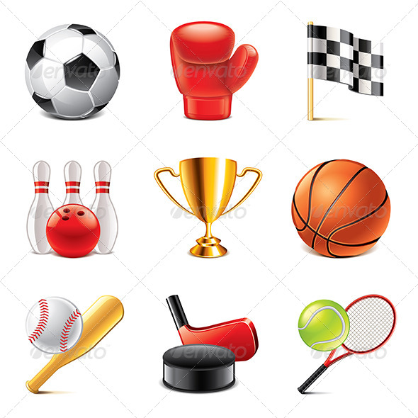 GraphicRiver Sport Icons Photo-Realistic Set 7846779