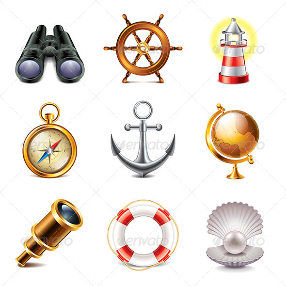 GraphicRiver Marine Icons Photo-Realistic Set 7846791