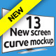 New Screen Cinema Display Curve Mockup