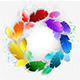 Circle of Rainbow Feathers - GraphicRiver Item for Sale