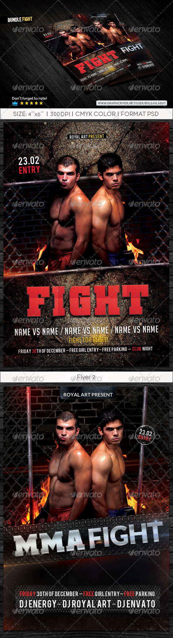 GraphicRiver Bundle Fight Flyer 7827002